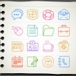 Business,office,internet icon set — ストックベクタ