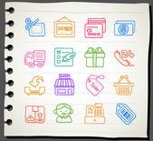 Shopping,business,o ffice,internet icon set — Stock Vector