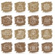 Hand drawn Christmas,Holiday icon set - Stock Vector
