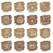 Hand drawn Christmas,Holiday icon set — Stock Vector