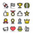 Awards & Prizes icon set — Stock Vector