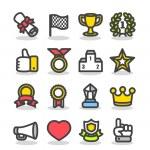Awards & Prizes icon set — Stock Vector #8153078