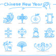 Royalty-Free Stock Векторное изображение: Hand drawn Chinese New Year Icons