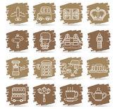 Mão desenhada a grã-bretanha, o conjunto de ícones do reino unido — Vetorial Stock