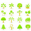 Hand draw tree icon set — Stock Vector #8327386