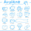 Airplane handdraw icon set — Stock Vector #8353574