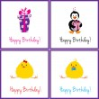 Birthday cards set — Stock Vector #8063724