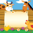 Farm animals card — Vettoriali Stock