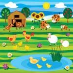 juego de granja — Vector de stock  #8068030