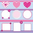 Scrapbook elements pink - set 2 — Stock Vector #8068580