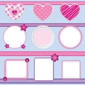 записки элементы розовый - набор 2 — Cтоковый вектор