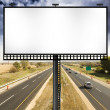 Billboard with Stormy Sky on american toll way — Stock Photo #10066759