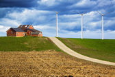 Storm is coming on Wind Farm — Stock Photo