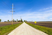 Country Road - Loose Gravel — Stock Photo