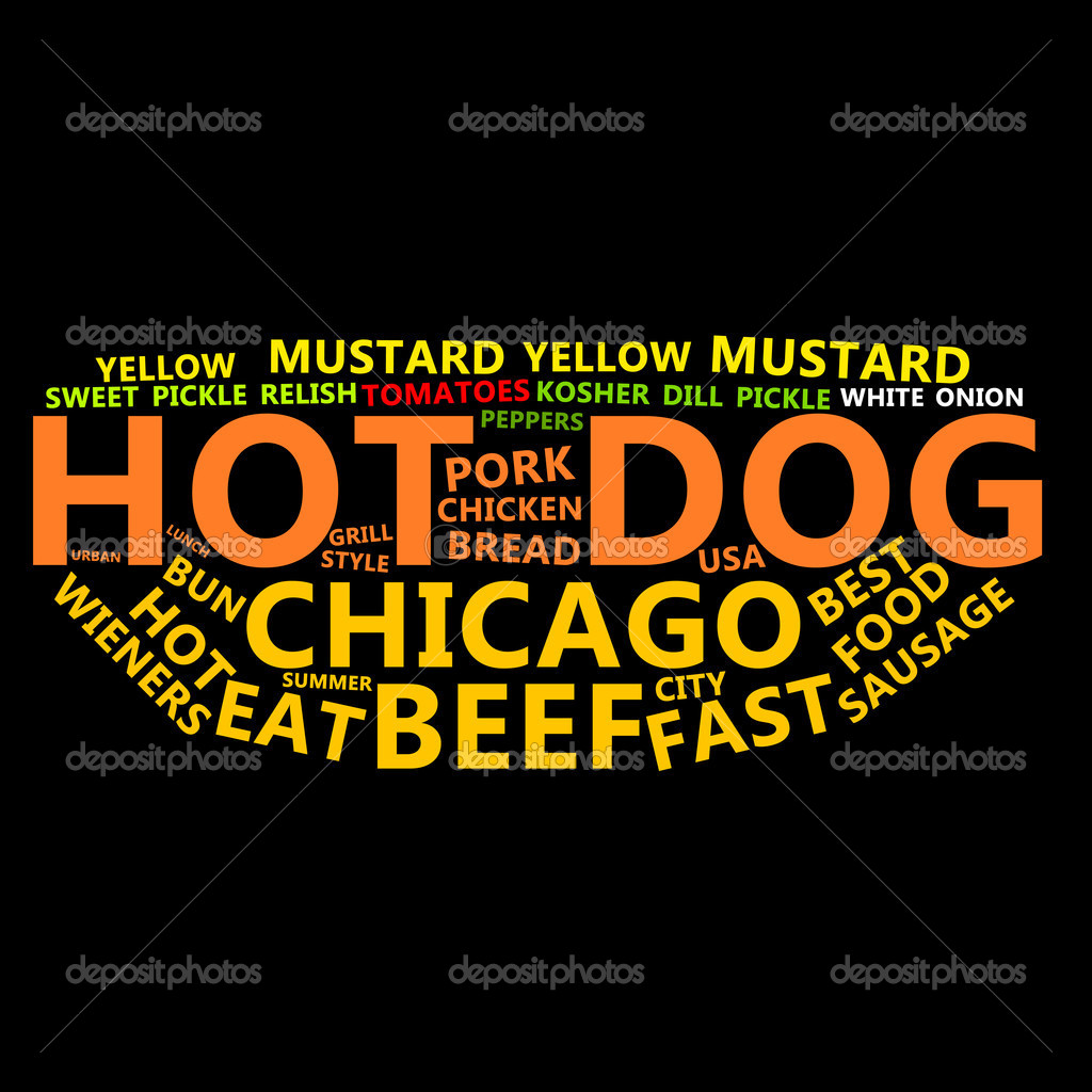 Hot Dog Text Cloud — Stock Photo #10623765