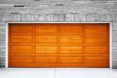 Brown Garage Door — 图库照片