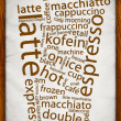 Coffe Poster — Stock Photo