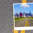 American Road Background - Stock Photo