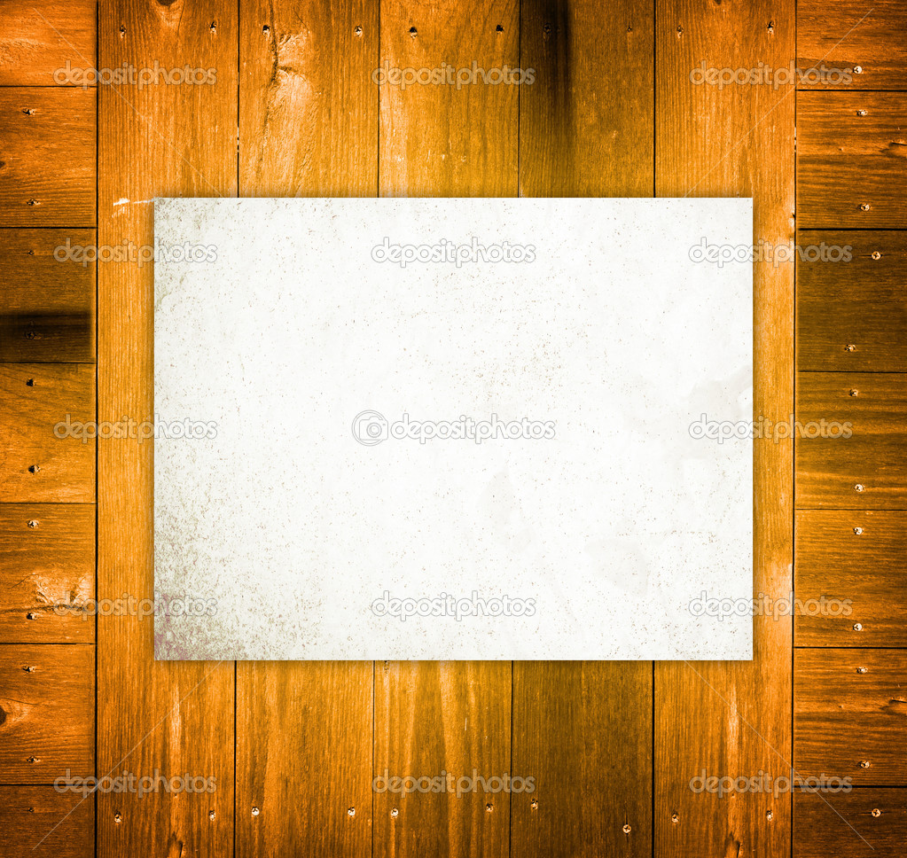 Empty Board on wooden Background — Stock Photo #8854047