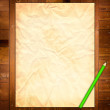 Empty Template on wooden Background — Stock Photo