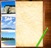 Empty Paper Template with picture from Vacation — Stock Photo