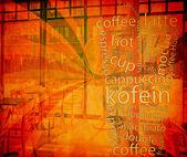 Kawa menu — Zdjęcie stockowe