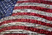 Vlajka na městské pozadí — Stock fotografie