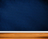 Interior Design - Retro Wallpaper with wooden baseboard — Stock Photo
