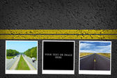 Travel background with yellow stripes — Stock Photo