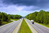 Stormy Sky on american toll way — Stock Photo