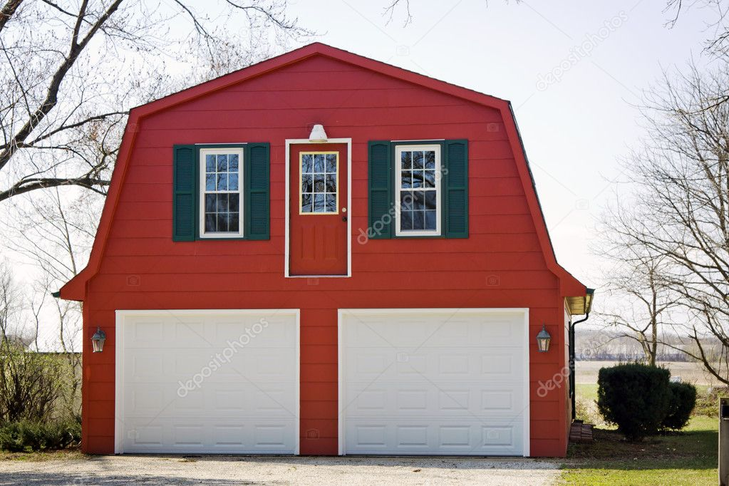 Red and White Garage (Farm Design) — Stock Photo #9720329