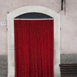 Red plush entrance — Stock Photo