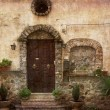 Stock Photo: Nice village facade