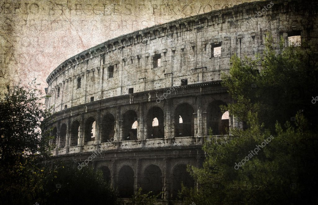 Detail of the Colosseum - Rome, Italy. Postcard from Rome. More of my images worked together to reflect age and time. — Stock Photo #9727016