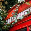 Stock Photo: London red phone booth
