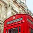 London-rote Telefonzelle — Stockfoto