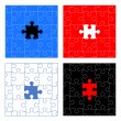 Royalty-Free Stock Imagem Vetorial: Puzzle pieces vector design set