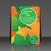 Grape leaf vine vector illustration - flyer design — Stock Vector