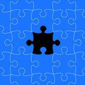 Diseño vectorial de piezas de puzzle — Vector de stock
