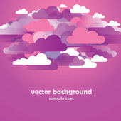Abstract Pink Cloud Background Vector — Stock Vector