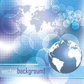 Abstract bubble world map vector design — Stock Vector