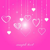 Love card with chains and hearts — Stock Vector