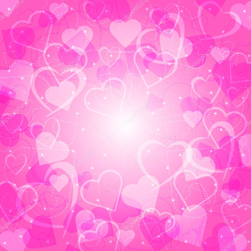 Vector background with hearts  Stock Vector #9916157