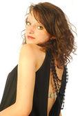 Seksi esmer kadın şık Abiye 324 — Stok fotoğraf