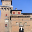 The historic castle of the Este family in Ferrara - Italy - Stock Photo