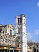 Bell Tower in the Square Trento and Trieste of the Cathedral of — Stock Photo