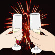 New Year's Eve toast — Stock Photo
