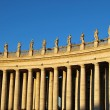 The colonnade of St Peter's Square in Rome - Stock Photo