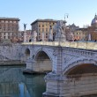 Stock Photo: The bridges on the Tiber river in Rome