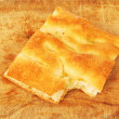 Part of a white pizza or italian focaccia 007 — Stock Photo